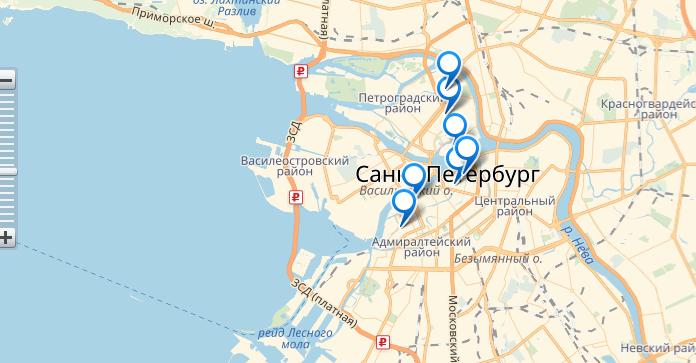 Проезд к музею Петропавловская крепость